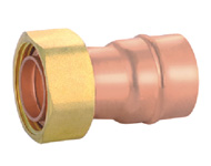 Straight Union Adaptor with Flange for Gasket-Plus Pattern