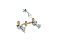 Double Handle Brass Bathroom Shower Faucet